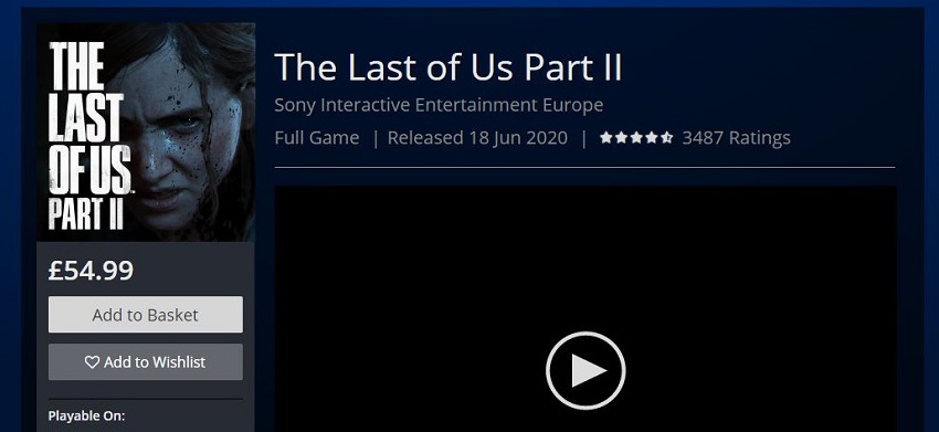 The Last of US British PSN