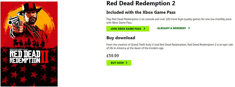 Red Dead Redemption 2 Price with UK IP