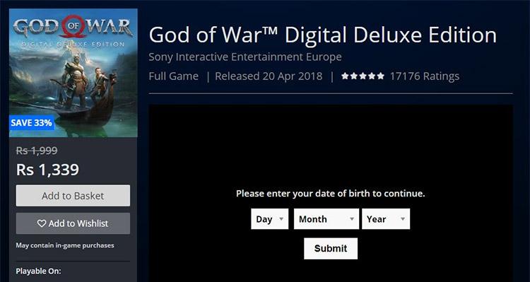 God Of War PSN India IP Address