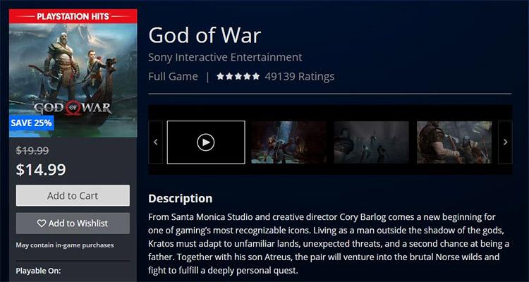 God Of War PSN US IP Address