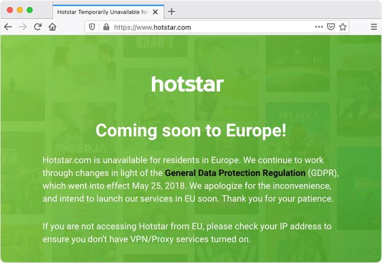 Hotstar comming soon to Europe