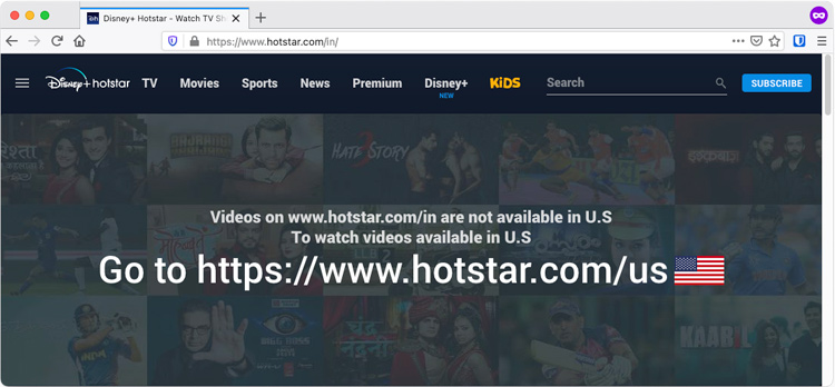Hotstar not available in US