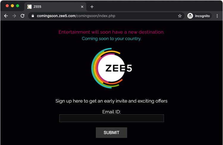 ZEE5 coming soon