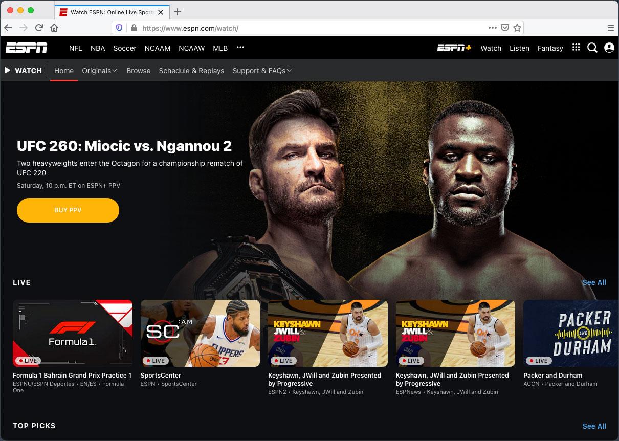 ESPN VPN