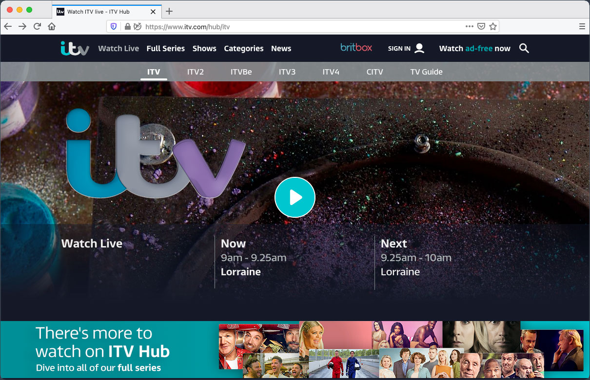 Watch ITV Live Abroad